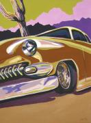 Chrome Painting Prints - Cruisin Print by Sandy Tracey