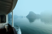 Ha Long Posters - Cruising Ha Long Bay Poster by Chuck Kuhn