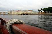 Boat Cruise Prints - Cruising in St-Petersburg Print by Sophie Vigneault