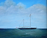 Cruising Paintings - Cruising Sailboat by Patricia Caldwell