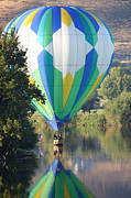 Prosser Balloon Rally Posters - Cruising the River Poster by Carol Groenen