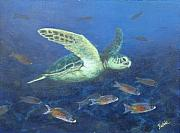Fish Underwater Paintings - Cruising with creoles by Jennifer Belote