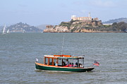Alcatraz Metal Prints - Cruizing The San Francisco Bay On The Pier 39 Boat Taxi With Alcatraz Island in The Distance.7D14322 Metal Print by Wingsdomain Art and Photography