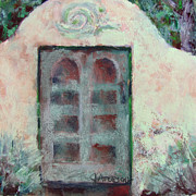 Adobe Building Pastels Posters - Crumbling Wall Poster by Julia Patterson
