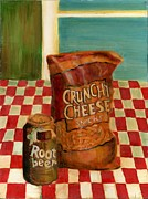 Junk Painting Posters - Crunchy Cheese - Summer Poster by Thomas Weeks
