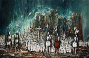 Templar Paintings - Crusade 2 by Kaye Miller-Dewing