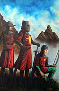 Templar Paintings - Crusaders by Edzel marvez Rendal