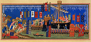 Warship Painting Framed Prints - CRUSADES 14th CENTURY Framed Print by Granger