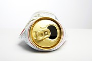 Beer Photo Posters - Crushed Beer Can Poster by Victor De Schwanberg