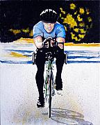 Bicycle Painting Originals - Cruz by Richard Roselli