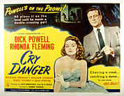 Cry Framed Prints - Cry Danger, Rhonda Fleming, Dick Framed Print by Everett