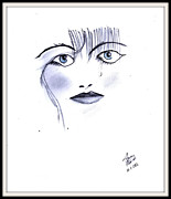 Cry Drawings Framed Prints - Cry for Love Framed Print by Gaurav Patwari