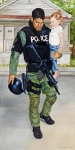 Police Paintings - Cry No More by Alyson Harris