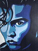 Celebrity Portraits Painting Originals - CryBaby Blues by Felicia Sullivan