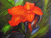 Canna Paintings - Crying in the rain by Sharon Burger