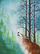 Oneida Paintings - Crying Wolf by Owisokon Lahache