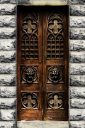 Cemetery Digital Art - Crypt Doorway by Aaron Hernandez