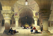 Haghe Prints - Crypt Of The Holy Sepulchre, Chapel Print by Everett