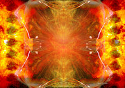 Crystal And Celestial Healing - Fire Agate Print by Leanne M Williams