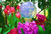 Spring Scenes Originals - Crystal Ball Garden by Earl Jackson