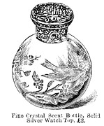 Crystal Bottle Prints - Crystal Bottle, 1892 Print by Granger