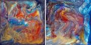 Caves Mixed Media - Crystal Caves - diptych by Paul Tokarski