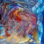 Caves Mixed Media - Crystal Caves - Right Side by Paul Tokarski