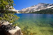 Domes Prints - Crystal Clear Alpine Lake Print by George Oze