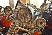 Harley Davidson Road King Motorcycles Photos - Crystal Clear by Rene Triay