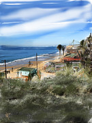 Beach Cottage Framed Prints - Crystal Cove Framed Print by Russell Pierce