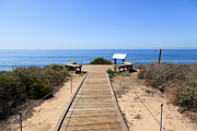 Seats Photo Prints - Crystal Cove State Park Ocean Overlook Print by Paul Velgos
