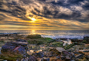 Tide Pools Framed Prints - Crystal Cove Tide Pools Framed Print by Eddie Yerkish