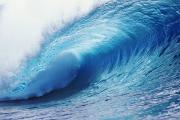 Ali Photos - Crystal Ice Blue Wave by Ali ONeal - Printscapes