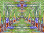 Fanciful Digital Art Metal Prints - Crystal Kaleidoscope Way Metal Print by Tim Allen