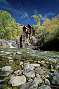 Crystal River Framed Prints - Crystal Mill in Autumn Framed Print by Greg Nyquist
