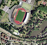 Crystal Palace Framed Prints - Crystal Palace Sports Centre, Aerial View Framed Print by Getmapping Plc