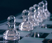 Checkmate Prints - Crystal Pawns Print by Anne Kitzman