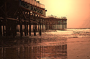 Pier Mixed Media - Crystal Pier  San Diego California by Richard Shelton