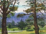 Juniper Paintings - Crystal Springs Fairway by Donald Maier