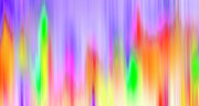 Blending Prints - Crystals Abstract - Color Frequency Print by Steve Ohlsen