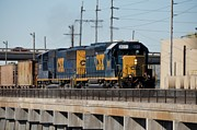 Trains Photos - CSX 8011 Bone Valley Bound by John Black