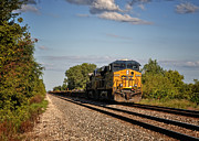 Rail Line Prints - CSX Train Engine 1 Print by Pamela Baker