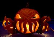 Halloween Sculptures - Cthulhu Pumpkin by Nicholas Damario