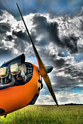 Single-engine Photo Prints - Cub Prop Print by Steven Richardson