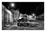 Silver And Black Prints - Cuba 10 Print by Marco Hietberg