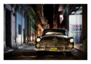 All Blue Framed Prints - Cuba 19 Framed Print by Marco Hietberg