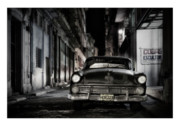 Car Prints Digital Art Posters - Cuba 20 Poster by Marco Hietberg