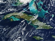 Oceans 11 Art - Cuba by NASA / Science Source