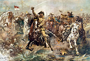 Spanish American War Framed Prints - Cuba: Rough Riders, 1898 Framed Print by Granger