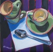 Cafe Cubano Art - Cuban Coffee by Rivkah Singh